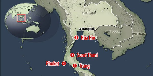 Four killed, scores injured as Thailand rocked by multiple explosions