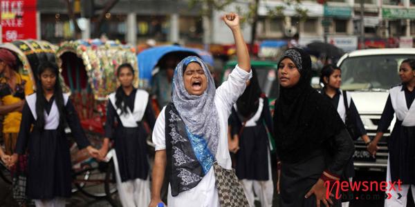 Students protest over schoolgirl Risha murder in Dhaka