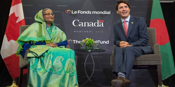 Hasina, Trudeau urge world to act against terrorism
