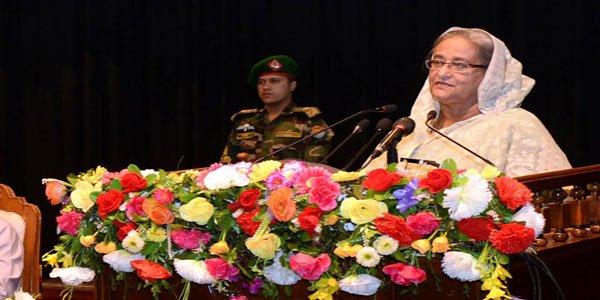 Hasina calls for help make Bangladesh illiteracy free
