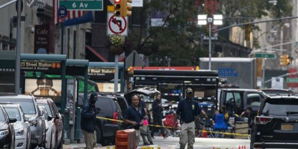 Five people in custody over New York blast