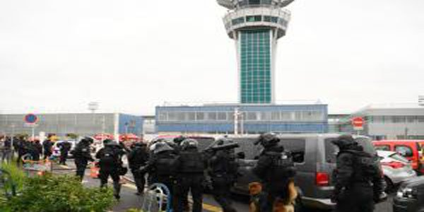 Man shot dead by police after seizing gun from soldier at French airport