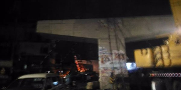 One killed after girder fell off under-construction Malibagh flyover