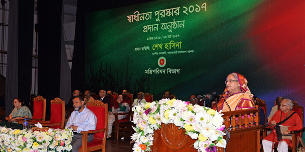 Bangladesh never bows head to donors, says Hasina