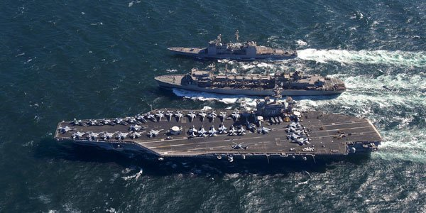 US warships deployed to Korean peninsula