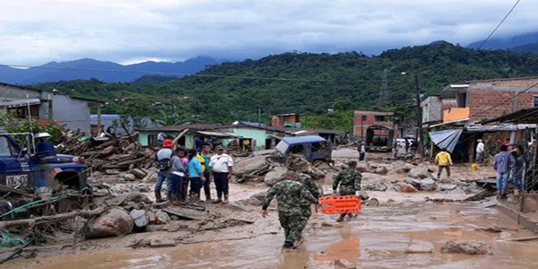 Colombian landslide kills more than 250 people