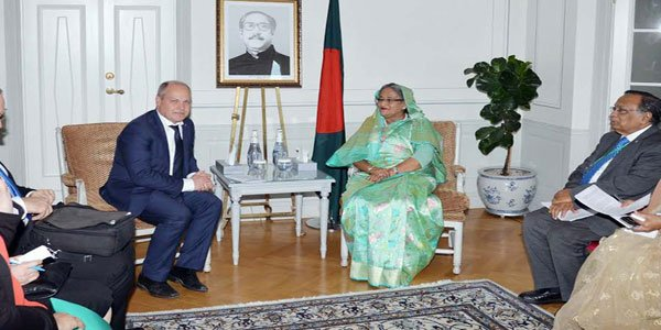 Hasina returns home