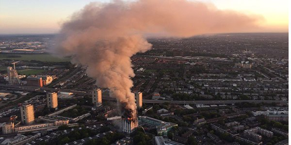 Six killed as fire engulfed residential tower in London