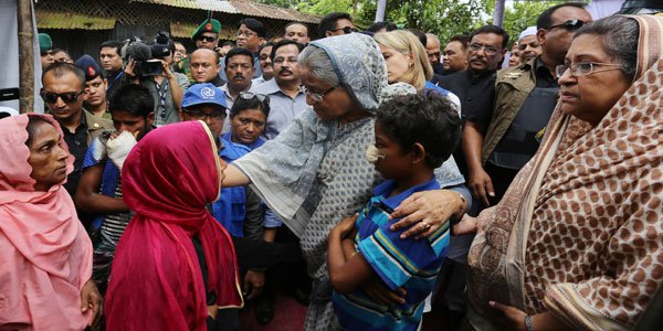 Hasina assures shelter, food for Rohingya fleeing Myanmar violence
