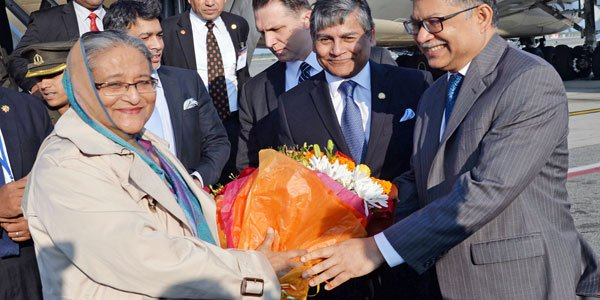 Hasina reaches New York to attend UN general assembly
