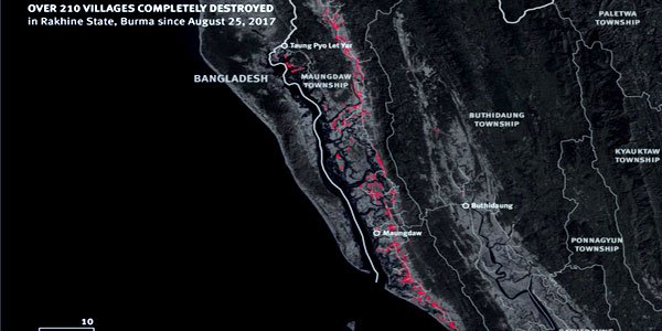 Shocking evidence of massive destruction on Rohingya village
