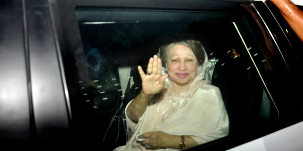 Khaleda returns home