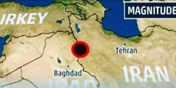 Earthquake, Iran and Iraq