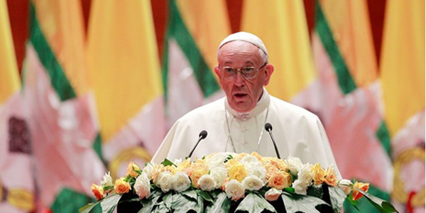 Pope preaches forgiveness in public Mass in Myanmar