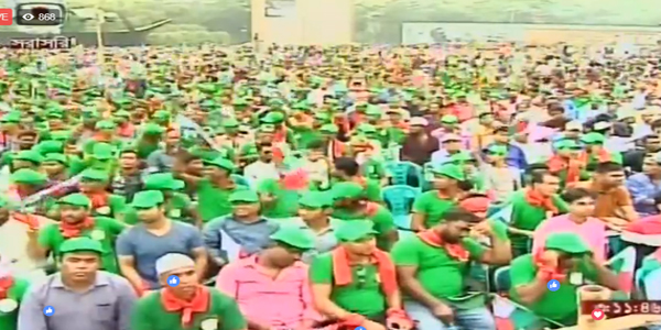 Hasina joins rally to celebrate UN recognition of Bangabandhu's speech