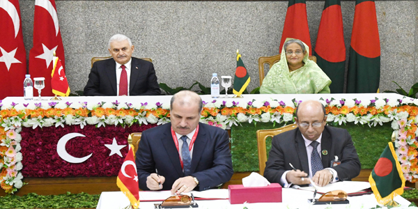 Bangladesh Turkey sign deals on economic cooperation