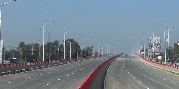 Country's first six-lane flyover opened to traffic