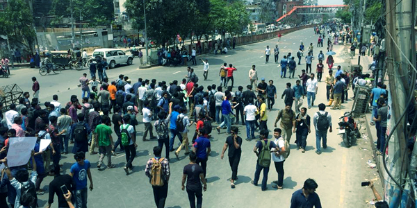 Students' demo over job quota cripples Bangladesh