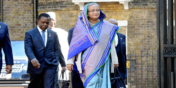 Hasina returns home Monday