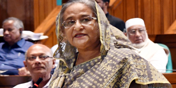 No need of job quota, says Hasina