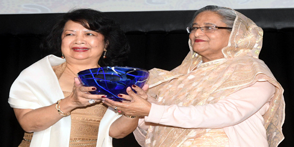Hasina receives Global Women's Leadership Award 2018