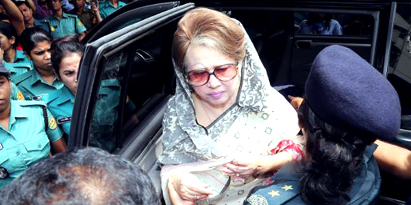 Khaleda's prison term suspended for six months