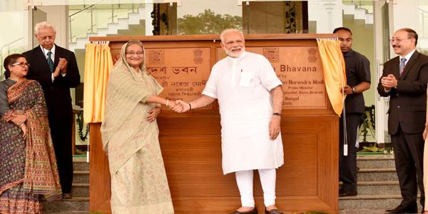 Hasina, Modi inaugurate Bangladesh Bhavan at Shanti Niketan