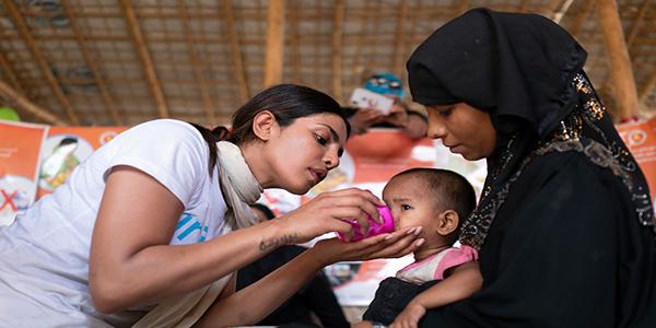 """Open your hearts"" to Rohingya children"