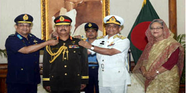 Bangladesh's new army chief adorned with rank badge of General