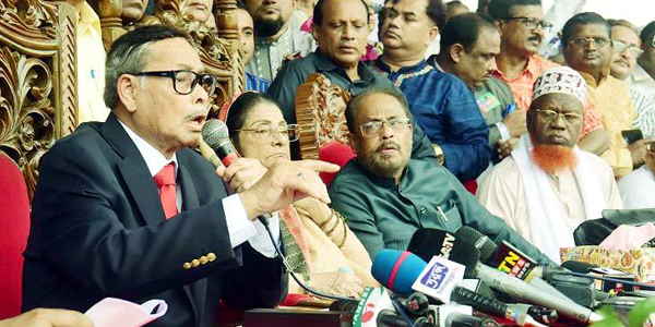 Ershad wants parties having seats in parliament to be in election-time government
