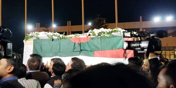 Syed Ashraf's body arrived in Dhaka