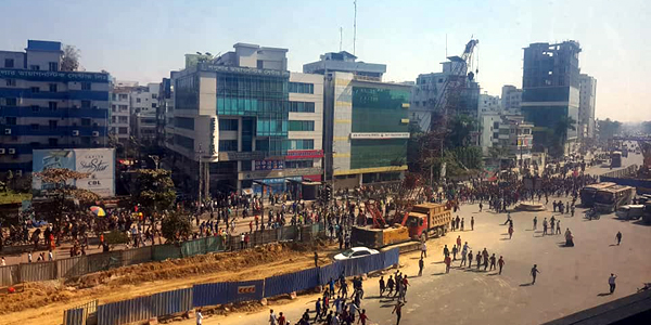 Garment workers demonstrate to demand pay hike in Bangladesh