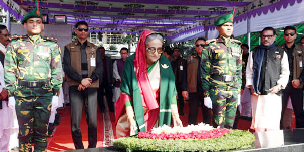 New cabinet pays homage to Bangabandhu, liberation war martyrs