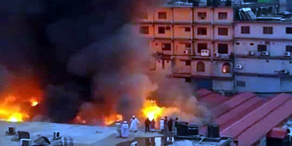 Kitchen market stores gut in fire at Gulshan