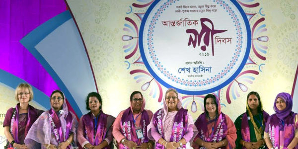 Hasina calls womenfolk to attain their own power