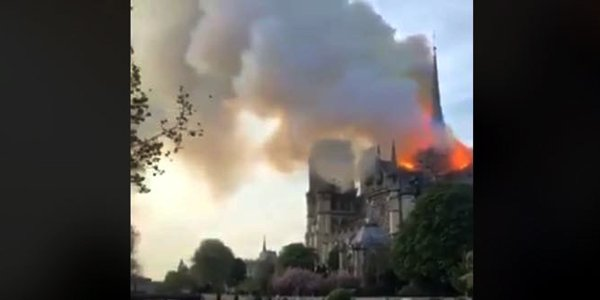 Iconic spire of Notre-dame cathedral collapsed