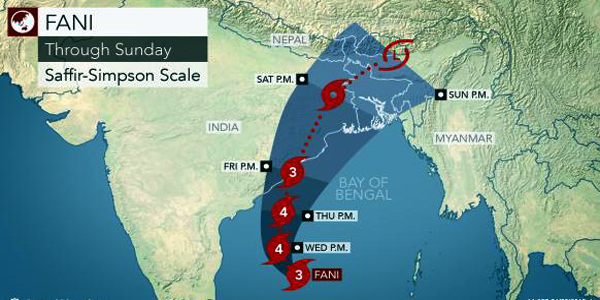 Cyclone Fani continues to intensify