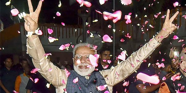 Narendra Modi once again in India