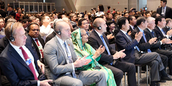 Hasina joins WEF meeting in Dalian