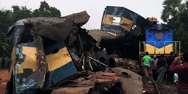 Bangladesh train collision kills at least 16