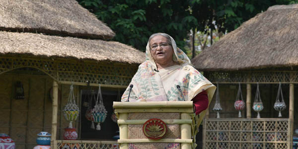 Hasina for facing COVID-19 crisis with courage