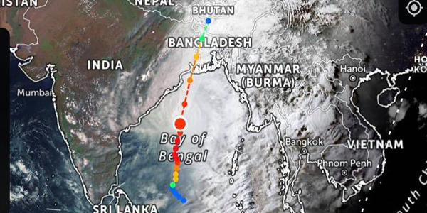 Cyclone Amphan to cross Bangladesh coast Wednesday