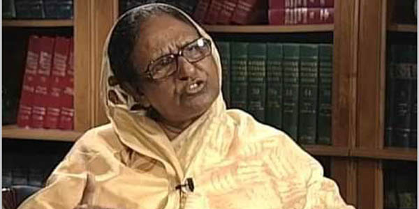 Former home minister Sahara Khatun dies at the age of 77