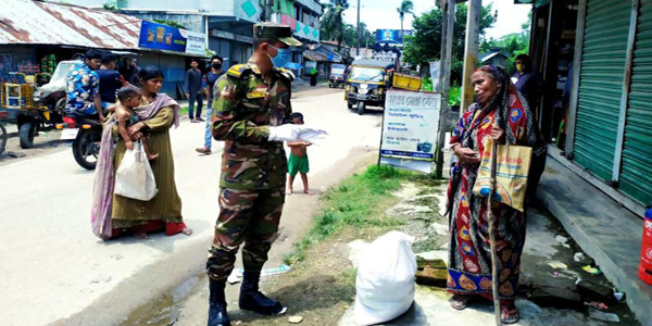 Army troops continue to support people amid Covid-19 pandemic