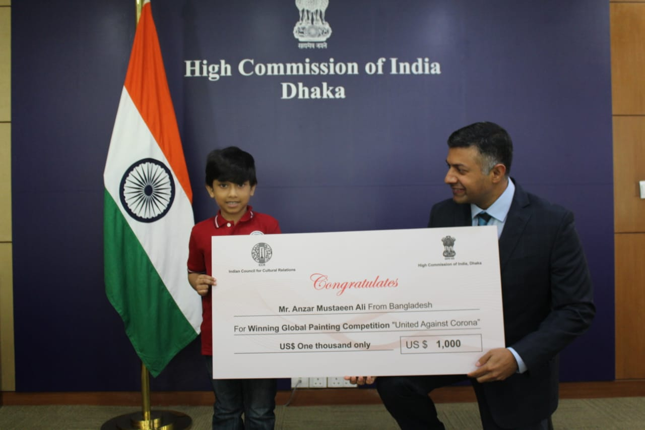COVID-19: Six-year-old Bangladeshi boy wins in Indian art competition