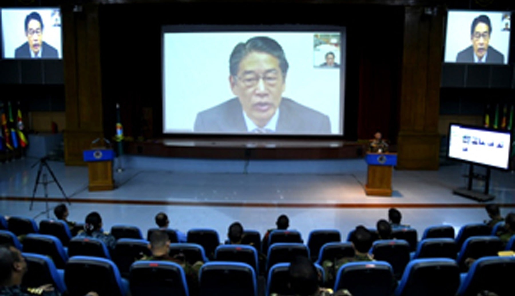 Japanese envoy speaks on 50 years of friendship at DSCSC