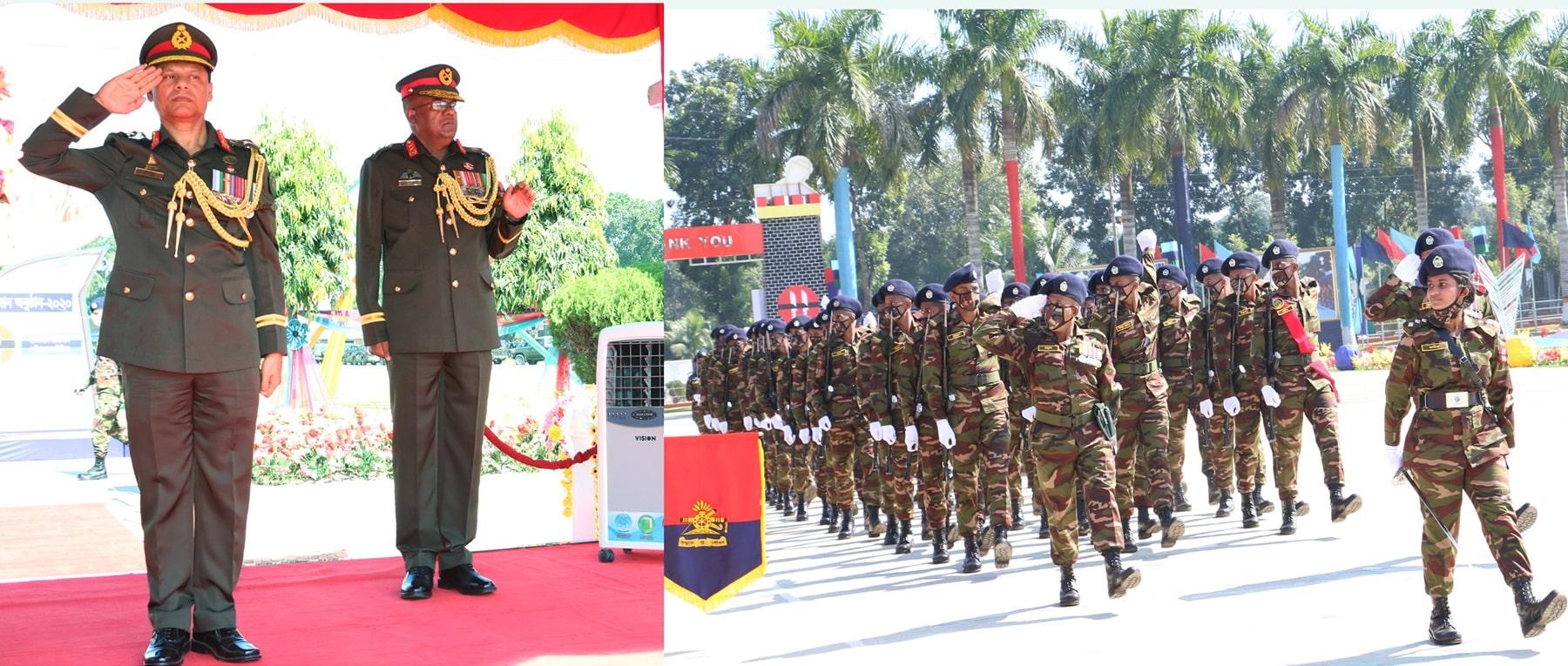 GOC, Artdock Lieutenant General SM Shafiuddin Ahmed on Monday (09-11-2020) at 11th Infantry Division, Bogra Cantonment