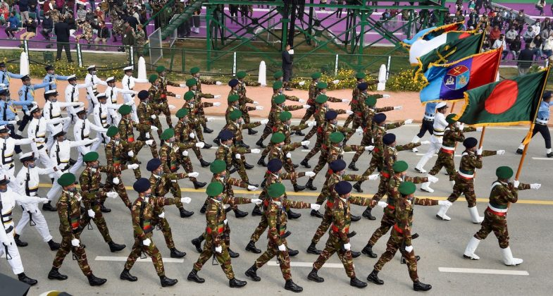 Historical march by Bangladesh troops in Indian Republic Day celebrations