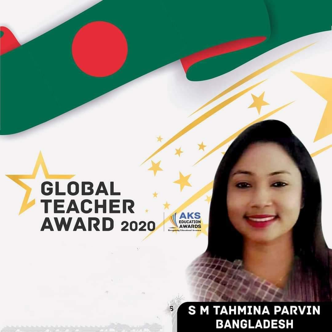 Tahmina Wins Global Teacher Award 2020